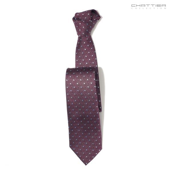 Bordo spalvos taškuotas kaklaraištis